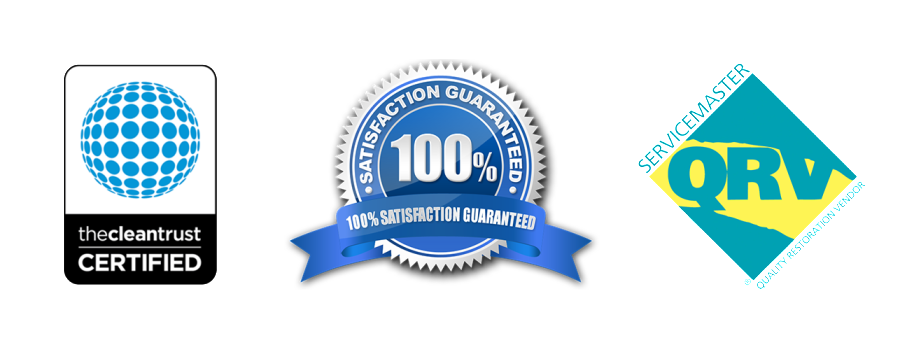Insurance claims and 100% satisfaction logos