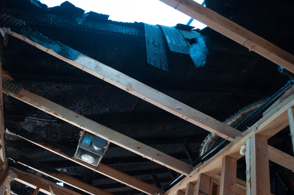 Home Fire Damaged Roof in Bend Oregon